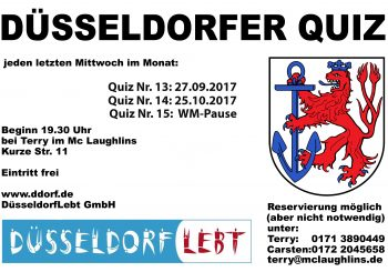 Düsseldorfer Quiz April/Mai/Juni