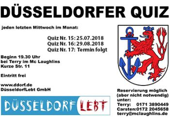Düsseldorfer Quiz Juli/August/September